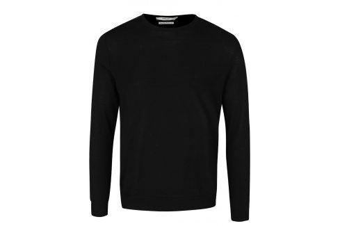 Černý svetr z merino vlny Jack & Jones Premium Mark svetry