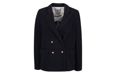 Modré dámské sako s knoflíky ve zlaté barvě Garcia Jeans Bundy, kabáty