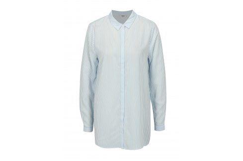 Bílo-modrá pruhovaná oversize košile ONLY Glory košile