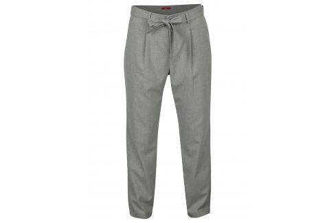 Světle šedé dámské kalhoty s páskem s.Oliver Džíny, kalhoty, legíny