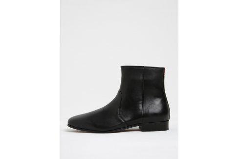 Černé pánské kožené kotníkové boty ALDO Arly kotníkové