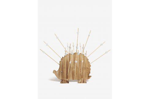 Dřevěný držák na párátka ve tvaru ježka SIFCON doplňky – kuchyně a jídelna