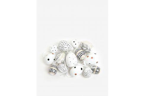 Sada plastových závěsných vajíček v krémové barvě Kaemingk Doplňky do bytu