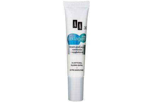 AA Cosmetics Collagen HIAL+ hydratační a vyhlazující oční krém 30+  15 ml Pro první vrásky