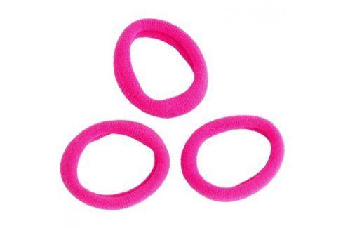 Magnum Hair Fashion gumička do vlasů Pink 3 ks Vlasové doplňky