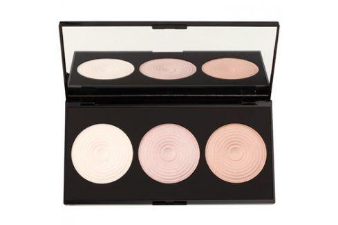 Makeup Revolution Beyond Radiance paleta rozjasňovačů se zrcátkem  15 g Tvářenky