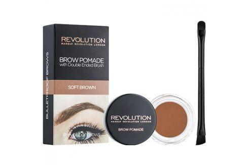 Makeup Revolution Brow Pomade pomáda na obočí odstín Soft Brown 2,5 g Tužky na obočí