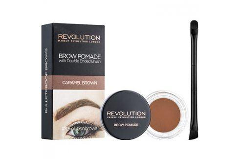 Makeup Revolution Brow Pomade pomáda na obočí odstín Caramel Brown 2,5 g Tužky na obočí
