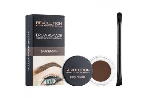 Makeup Revolution Brow Pomade pomáda na obočí odstín Dark Brown 2,5 g Tužky na obočí