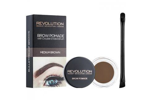 Makeup Revolution Brow Pomade pomáda na obočí odstín Medium Brown 2,5 g Tužky na obočí
