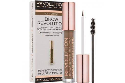 Makeup Revolution Brow Revolution fixační gel na obočí odstín Soft Brown 3,8 g Tužky na obočí