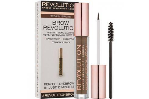 Makeup Revolution Brow Revolution fixační gel na obočí odstín Medium Brown 3,8 g Tužky na obočí