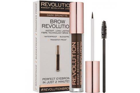 Makeup Revolution Brow Revolution fixační gel na obočí odstín Dark Brunette 3,8 g Tužky na obočí