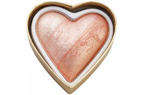Makeup Revolution I ♥ Makeup Blushing Hearts tvářenka odstín Peachy Pink Kisses 10 g Tvářenky