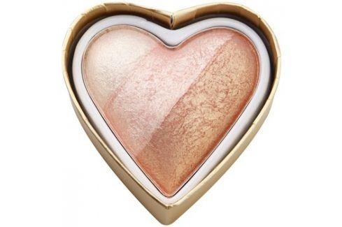 Makeup Revolution I ♥ Makeup Blushing Hearts tvářenka odstín Iced Hearts 10 g Tvářenky