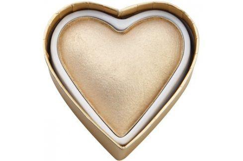Makeup Revolution I ♥ Makeup Blushing Hearts rozjasňující pudr zlatá bohyně  10 g Tvářenky
