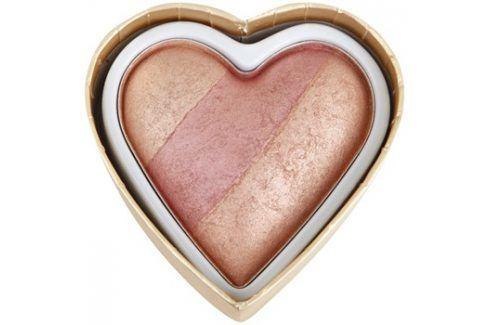 Makeup Revolution I ♥ Makeup Blushing Hearts tvářenka odstín Peachy Keen Heart 10 g Tvářenky