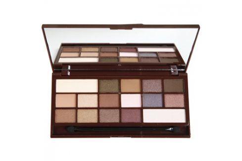 Makeup Revolution I ♥ Makeup I Heart Chocolate paleta očních stínů se zrcátkem a aplikátorem odstín I Heart Chocolate  22 g Oční stíny