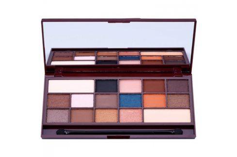 Makeup Revolution I ♥ Makeup I Heart Chocolate paleta očních stínů se zrcátkem a aplikátorem odstín Salted Caramel  22 g Oční stíny