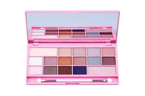 Makeup Revolution I ♥ Makeup I Heart Chocolate paleta očních stínů se zrcátkem a aplikátorem odstín Pink Fizz  22 g Oční stíny