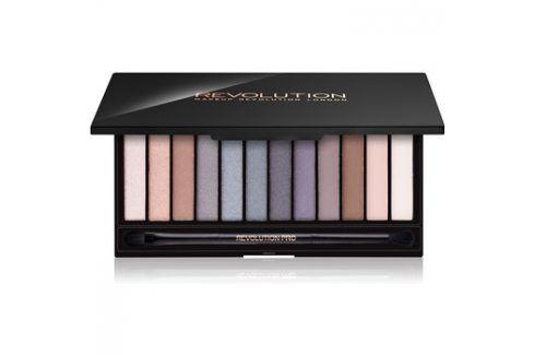 Makeup Revolution Iconic Smokey paleta očních stínů se zrcátkem a aplikátorem  13 g Oční stíny