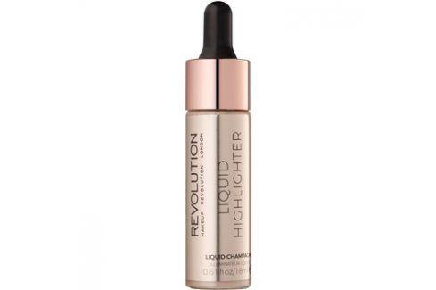 Makeup Revolution Liquid Highlighter tekutý rozjasňovač odstín Liquid Champagne 18 ml Rozjasňovače