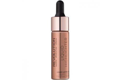 Makeup Revolution Liquid Highlighter tekutý rozjasňovač odstín Liquid Lustre Gold 18 ml Rozjasňovače