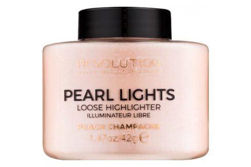 Makeup Revolution Pearl Lights sypký rozjasňovač odstín Peach Champagne 42 g Rozjasňovače