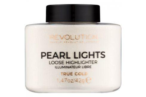 Makeup Revolution Pearl Lights sypký rozjasňovač odstín True Gold 42 g Rozjasňovače