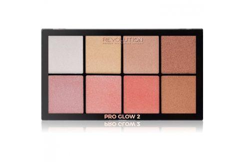 Makeup Revolution Pro Glow 2 paleta rozjasňovačů 8 x 2,5 g Rozjasňovače
