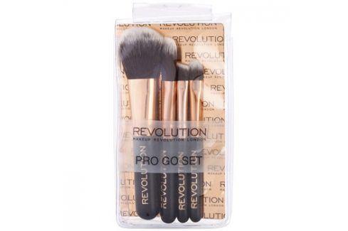 Makeup Revolution Pro Go Set sada mini štetců cestovní balení  4 ks Sady štětců na líčení