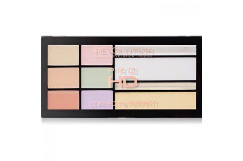 Makeup Revolution Pro HD Correct & Perfect paleta korektorů s rozjasňovačem  16,5 g Multifunkční paletky