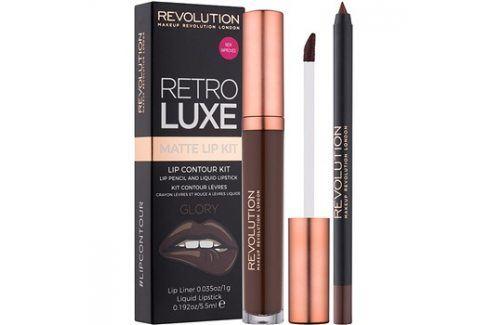 Makeup Revolution Retro Luxe matná sada na rty odstín Glory 5,5 ml Konturovací tužky na rty