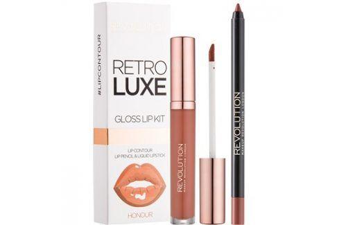 Makeup Revolution Retro Luxe sada na rty odstín Honour 5,5 ml Konturovací tužky na rty