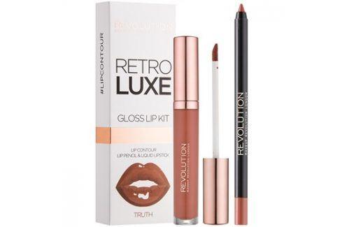 Makeup Revolution Retro Luxe sada na rty odstín Truth 5,5 ml Konturovací tužky na rty