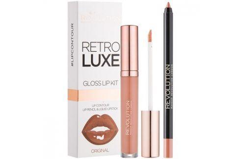 Makeup Revolution Retro Luxe sada na rty odstín Original 5,5 ml Konturovací tužky na rty