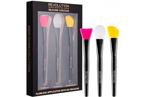 Makeup Revolution Silicone Contour sada silikonových štětců na konturování  3 ks Štětce na tvář