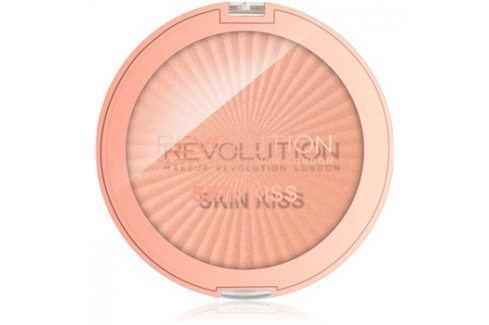 Makeup Revolution Skin Kiss rozjasňovač na oči a tvář odstín Rose Gold Kiss 14 g Rozjasňovače