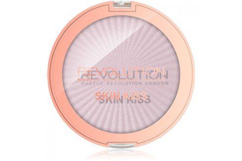 Makeup Revolution Skin Kiss rozjasňovač na oči a tvář odstín Pink Kiss 14 g Rozjasňovače