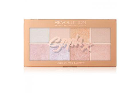 Makeup Revolution Soph X paleta rozjasňovačů 8 x 2 g Kontury obličeje