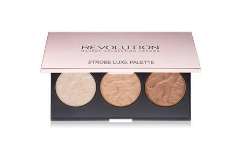 Makeup Revolution Strobe Luxe paleta rozjasňovačů  11,5 g Rozjasňovače