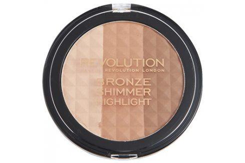 Makeup Revolution Ultra Bronze Shimmer HIghlight bronzující rozjasňující pudr  15 g Pudry