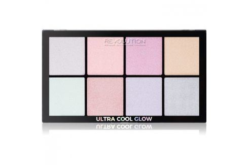 Makeup Revolution Ultra Cool Glow paleta rozjasňovačů 8 x 2,5 g Kontury obličeje