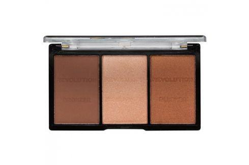 Makeup Revolution Ultra Sculpt & Contour paleta na kontury obličeje odstín 04 Ultra Ligt/Medium 11 g Tvářenky