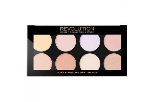 Makeup Revolution Ultra Strobe and Light rozjasňující paletka  15 g Kontury obličeje