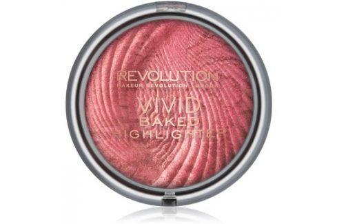Makeup Revolution Vivid Baked zapečený rozjasňující pudr odstín Rose Gold Lights 7,5 g Rozjasňovače