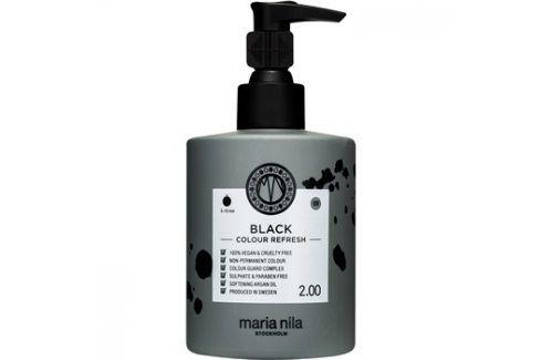 Maria Nila Colour Refresh Black jemná vyživující maska bez permanentních barevných pigmentů výdrž 4-10 umytí 2.00 300 ml Barvy na vlasy