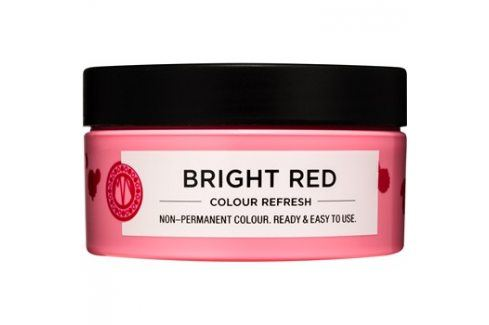 Maria Nila Colour Refresh Bright Red jemná vyživující maska bez permanentních barevných pigmentů výdrž 4-10 umytí 0.66 100 ml Barvy na vlasy