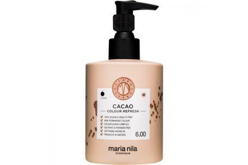 Maria Nila Colour Refresh Cacao jemná vyživující maska bez permanentních barevných pigmentů výdrž 4-10 umytí 6.00 300 ml Barvy na vlasy
