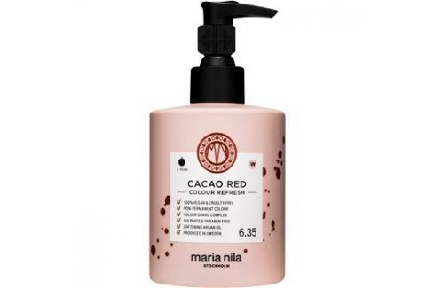 Maria Nila Colour Refresh Cacao Red jemná vyživující maska bez permanentních barevných pigmentů výdrž 4-10 umytí 6.35 300 ml Barvy na vlasy